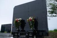 みちのく鹿島球場横の慰霊碑