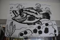 長女、誕生日に魚の絵を書いた。